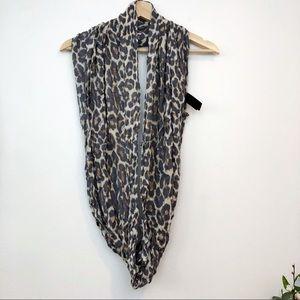 Coach | Leopard print infinity Coach scarf